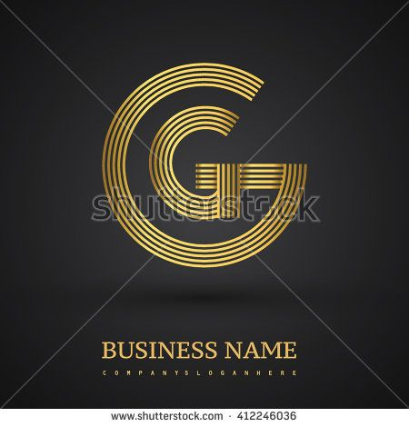 Elegant gold letter symbol. Letter G logo design. Vector logo design template elements  for company identity. - stock vector