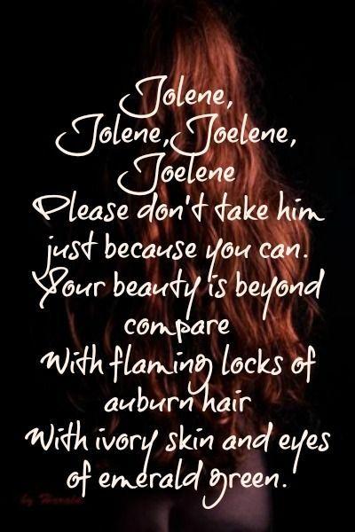 "Dolly Parton...  ""Jolene"""