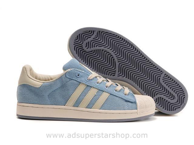 Adidas Superstar II Jeans bleu