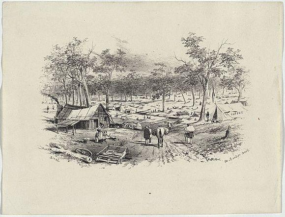 On Bendigo Creek 1852 - GILL, S.T.
