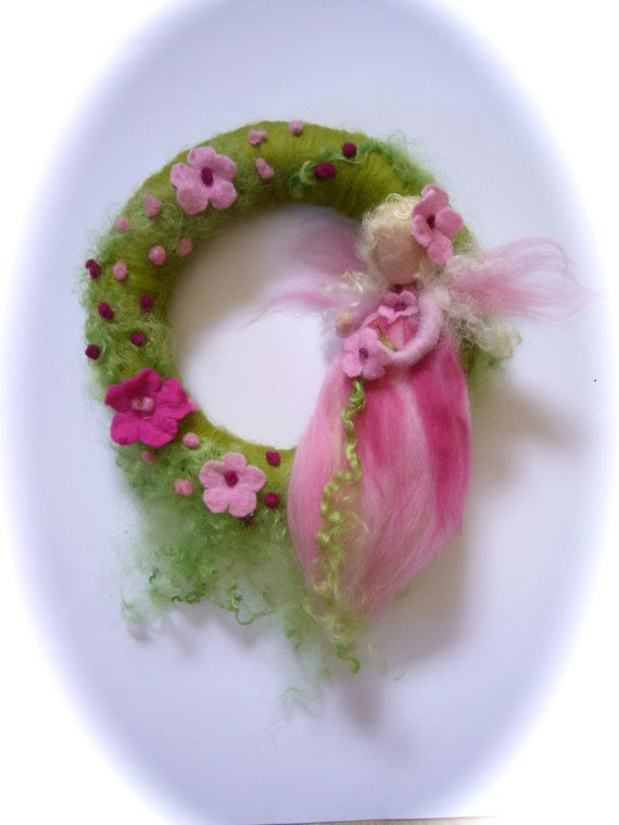 Hey, I found this really awesome Etsy listing at https://www.etsy.com/listing/101787916/fairy-wreath-felted-waldorf-elf-summer