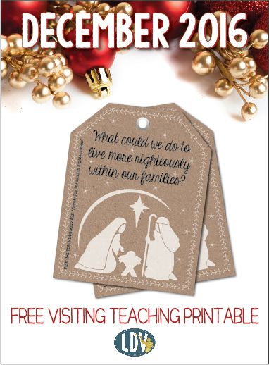 FREE December 2016 Visiting Teaching Printable Handout