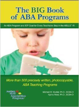 Based on the Applied Behavior Analysis (ABA) methods, book and CD provide over 500 printable program protocols with detailed objectives, baseline data collection ideas, teaching procedures and target goals. Lessons can be used both in school and home settings.