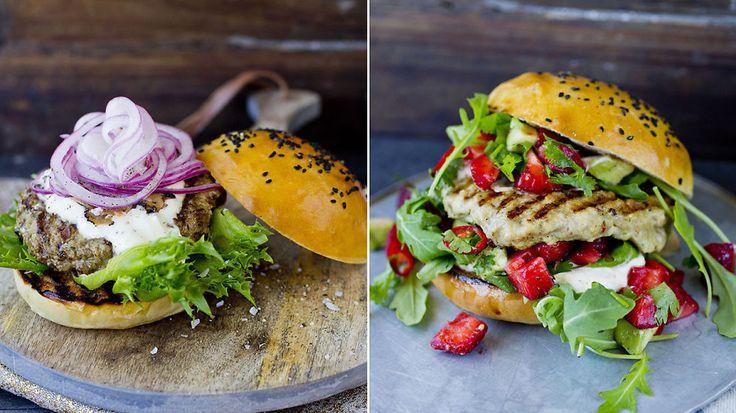 BBQ, kylling og trøffelsnadder: Lises amerikanske burgerspesial - Godt.no - Finn noe godt å spise
