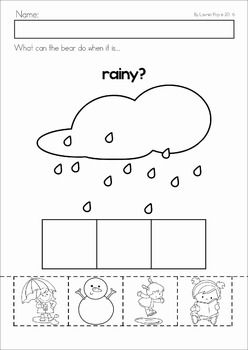 Weather Preschool worksheets, Preschool lessons