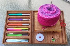 Check Out This Helpful Crochet Organizer for People Crafting in Bed