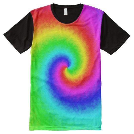 Tie-Dye Rainbow Swirl Men's T-Shirt