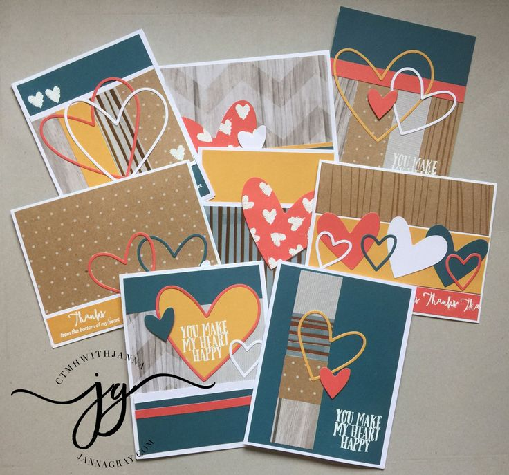 24 Thank You Card Workshop. #ctmhwithjanna jannagray.com Close To My Heart Rustic Home