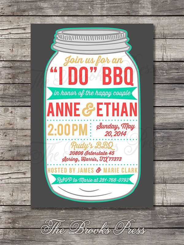 baby shower bbq invitation templates%0A caughtthebouquet   u   c  u   cI Do u   d BBQ Wedding Couples Shower  Rehearsal Dinner   Engagement Party Invitation  Custom Digital Printable File x OR x     ppi