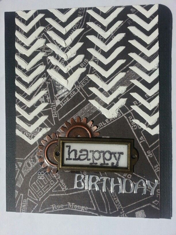 Masculine birthday card