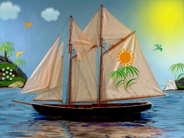 "SmudgeArt Digital Art Creation ""Tropical Paradise"""