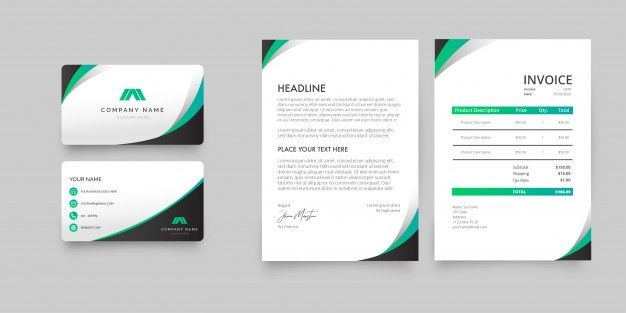 Download Modern Stationery Pack For Free Business Card Mock Up Invoice Design Template Modern Stationery