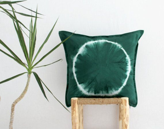 FOREST DWELLER . tie dye cushion cover . pillow . throw