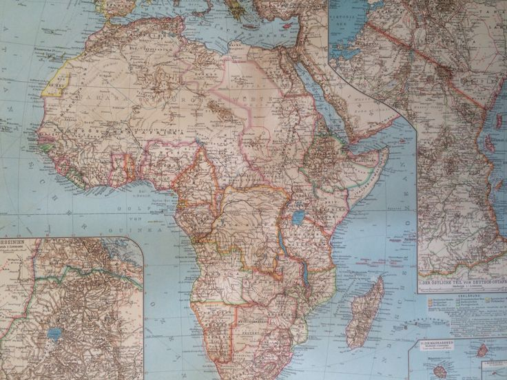 African wall art and decor uk map