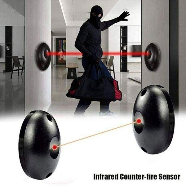 Single Beam Infrared Radiation Alarm Sensor Set Automatic Light Security Door Detector Home Security Systems Wireless Home Security Systems Alarm System