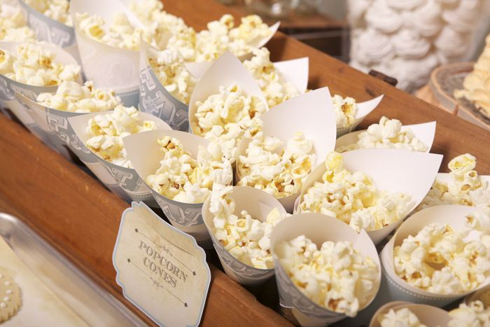 Popcorn Cones, Great For A Snack Table #aviationcocktailrecipes
