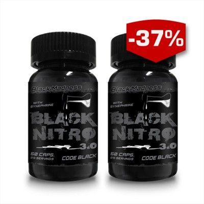 Sedan den första versionen av Black Nitro släpptes har den och dess uppföljare (Black Nitro 2.0) toppat försäljningslistorna. Med unika sammansättningar har dem gett en euforisk energikänsla samtidigt som dem effektivt minskat sötsuget och hungern. Trots dem tidigare succéerna så kommer nu den mest koncentrerade versionen hittills, Black Nitro 3.0. Black Nitro 3.0 köp 2 för 249:- ord.pris 398:-.