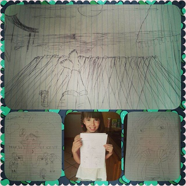 #365daysofmemories #2016: Day 51 - #girlsdoingart #lifewithtyla #momanddaughtertime - inspiration possessed us so we sketched it out!