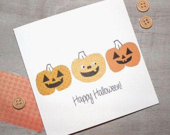 Carved Pumpkins Halloween Card