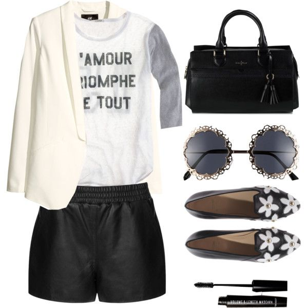 Zero-sum game by hannah-grace on Polyvore featuring мода, J.Crew, H&M, Topshop, Moschino Cheap & Chic, Cole Haan, Fantas-Eyes and Forever 21