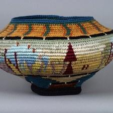tapestry crochet vessel by Caroline Routh