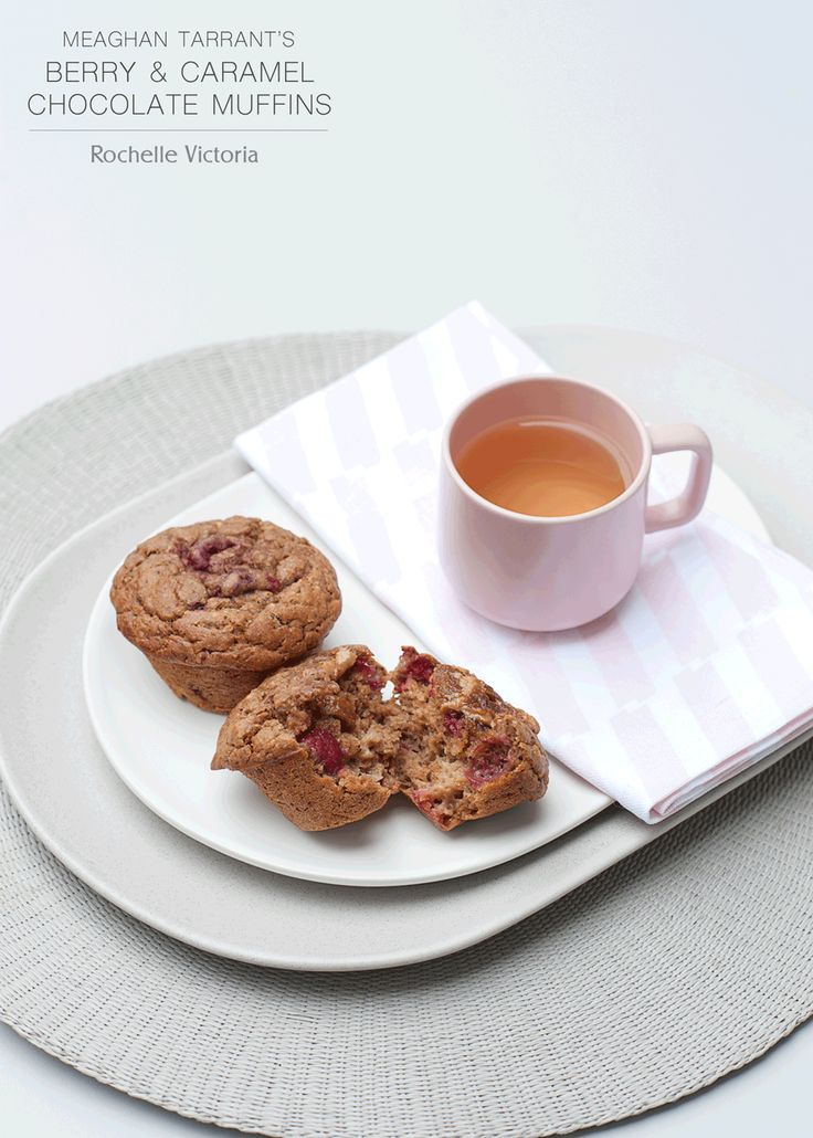 RECIPE TEST | Berry and Caramel Chocolate Muffins made with Loving Earth Raw Organic Caramel Chocolate
