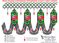 Rose Sweep Christmas Ornament Cover Bead Graph for Beading