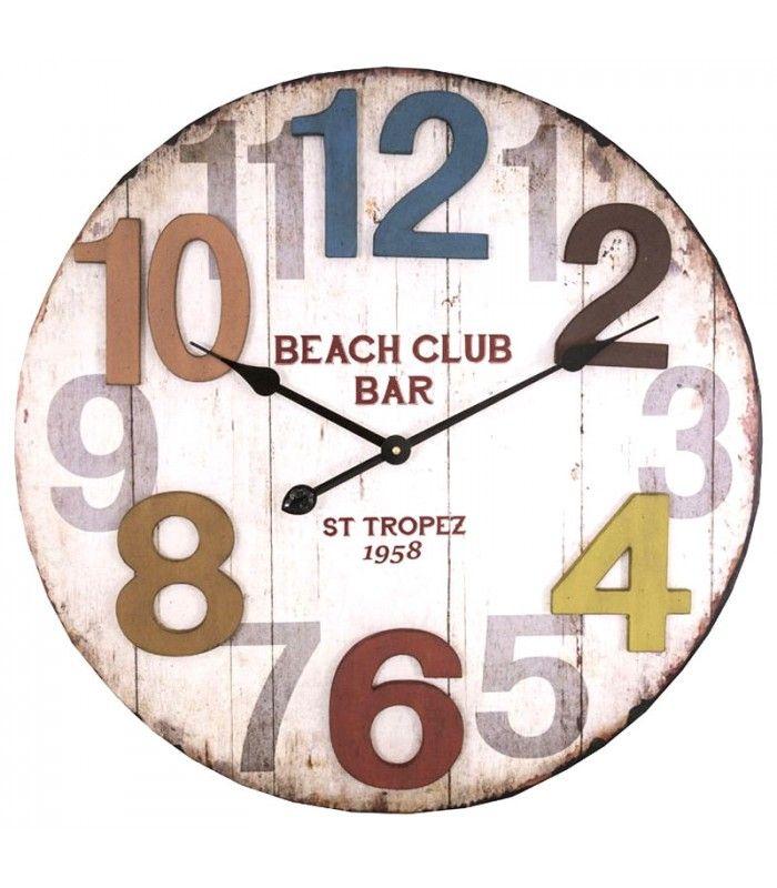 Les 8 meilleures images du tableau pendule murale sur pinterest pendule murale horloges et for Horloge murale multicolore
