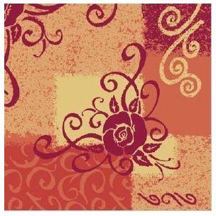 Lyon Terracotta luxusné svadobné  servítky z netkanej textílie, terakota, ruža rozmer 40x40
