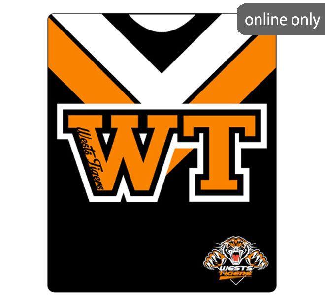 nrl-team-logo-polar-fleece-printed-155x127cm-throw-west-tigers
