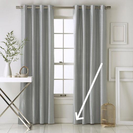 """ARTICLE: """"Quick Fix: Keep 20 Cents In Your Curtains."""" By Sarah Rae / Apartment Therapy."""