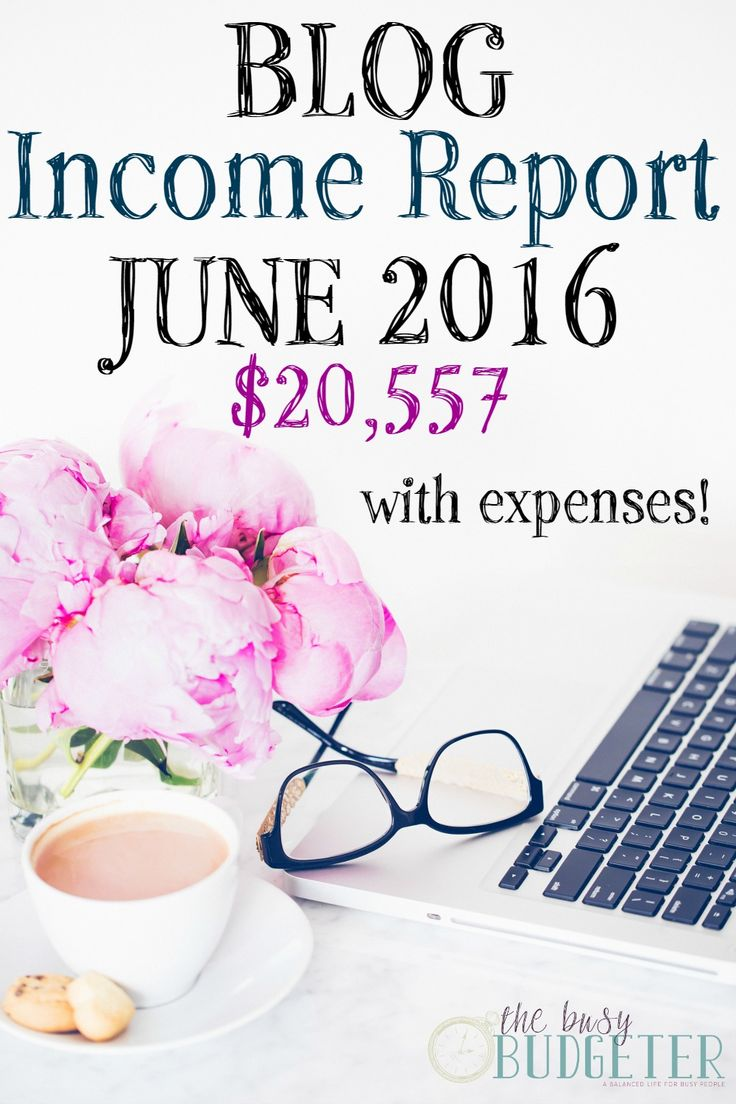 Blog Income Report With Expenses- June 2016