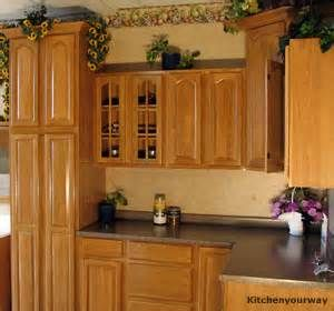 Honey Oak Kitchen Cabinets With Black Countertops   Bing Images