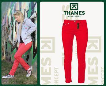 THAMES: Google+ HOY: dos propuestas cancherisimas en pantalones para #Ella  Opcion 2: Pantalón chupin elastizado Coral!!