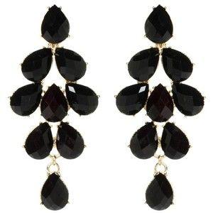 Orecchini lunghi neri South Hampton   stile Bollywood by Amrita Singh   Le persone acquistano gioielli artigianali e prodotti di bellezza online su EASYNCOOL!