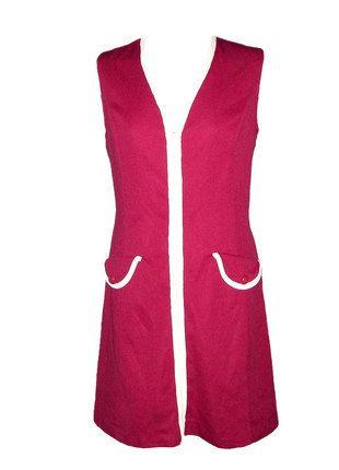 Compra mi artículo en #vinted http://www.vinted.es/ropa-de-mujer/vestidos-por-la-rodilla/143580-vestido-vintage-tipo-pichi-burdeos
