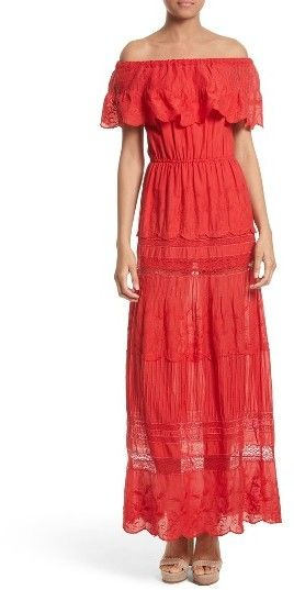 Women's Alice + Olivia Pansy Off The Shoulder Maxi Dress