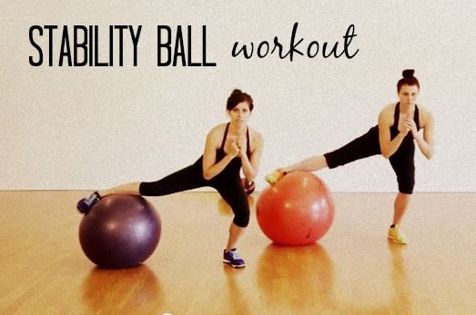 New stability ball workout {video} - The Fitnessista