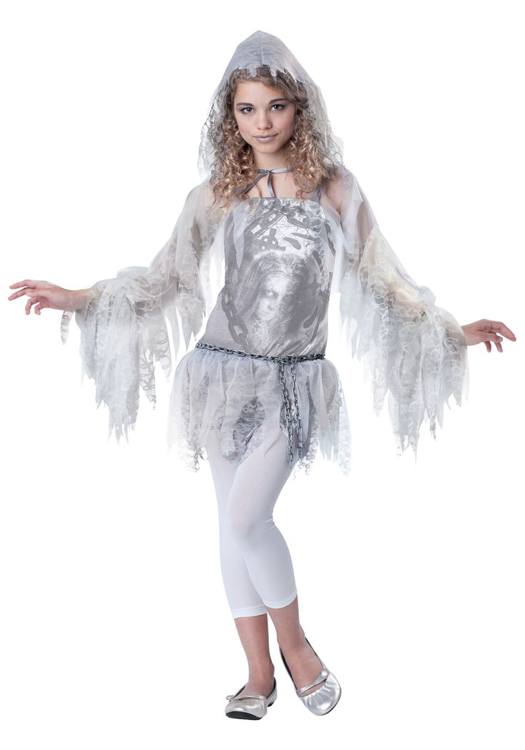 tween costumes for girls | Tween Girls Sassy Spirit Costume - Tween Girls' Classic Ghost Costume ...