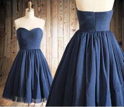 2016 Homecoming Dress,Navy Blue Homecoming Dresses,Tulle Homecoming Dress,Party Dress,Prom Gown