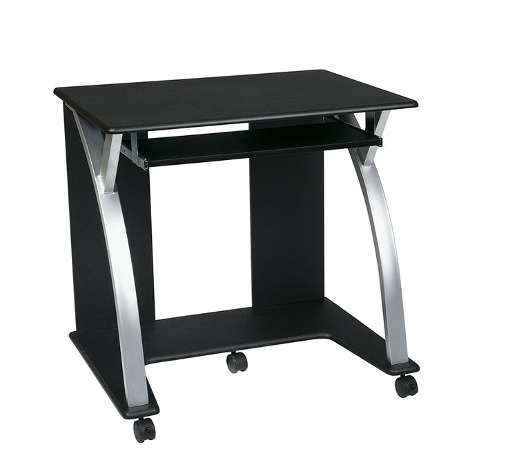 Osp Designs Saturn Computer Desk Black With Silver By Office Star