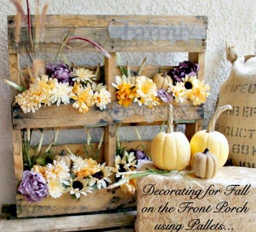 One More Time Events...: Outdoor Fall Decorations with Pallets