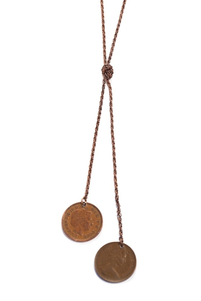 KNOTTED COINS-- I think this is such a great idea, especially if using coins with significant years.