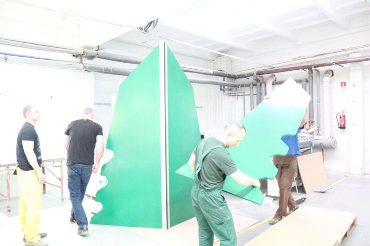 Prawie wszystkie elementy dopasowane :) #choinka #święta #wystawa #ecs #gdańsk