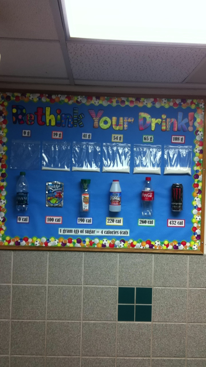 Rethink ur drink healthcare science pinterest the o for Nursing home christmas door decorations
