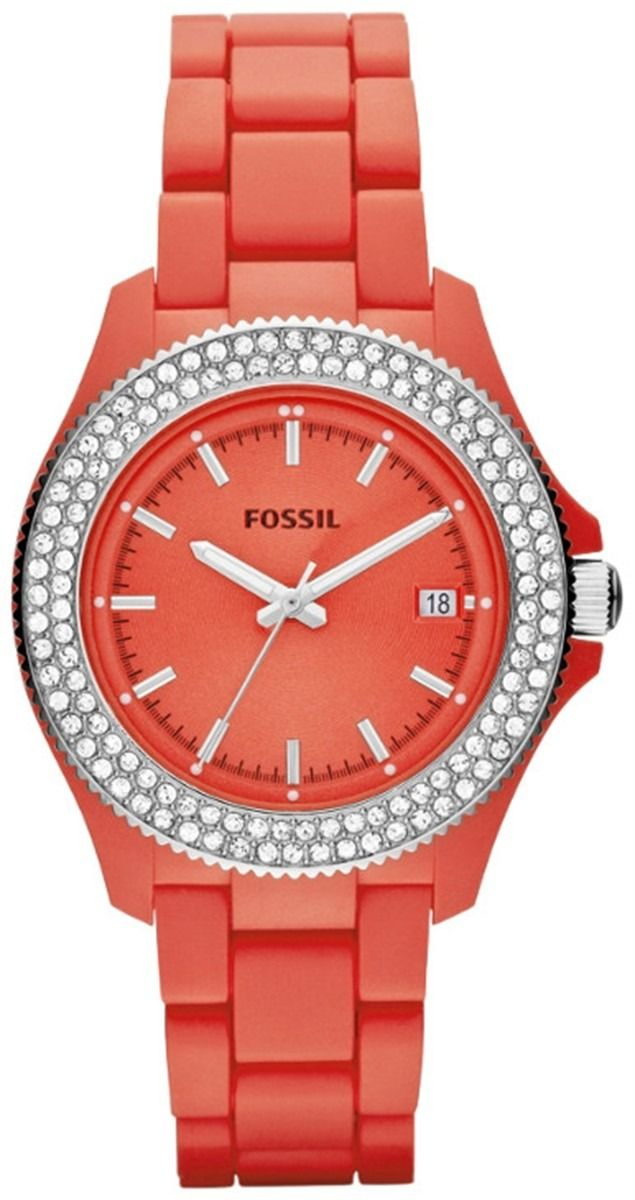 Fossil Watches, Women's Retro Traveler Resin Watch - Coral AM4469
