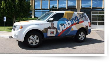 My car may soon look like this...Jobing.com employees get paid $500 a month AND all gas paid for, if they wrap their vehicle...check out the videos!
