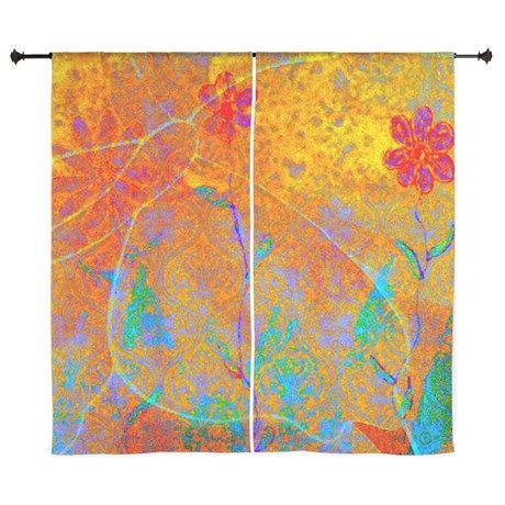 Magical Carpet Curtains by Jan4insight Designs on CafePress > SOLD a pair of window curtains!