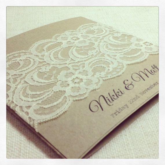 30 x Rustic Wedding Invitation Rustic by StunningStationery