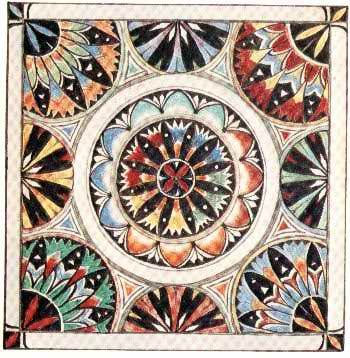 J.R.R. Tolkien, this Númenórean tile would have been among such precious artifacts to be saved from the Downfall of Númenor in the ships of Elendil and his sons Isildur and Anárion and brought to Middle-earth, as is told in the Akallabêth (The Silmarillion).
